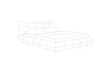 线描软床图片