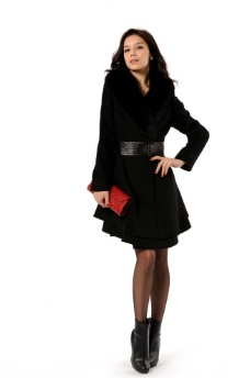 雅各卡洛2012年女皮草大衣图片