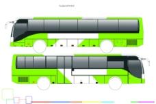 公交车车体模板图片