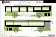公交车车贴模板图片