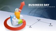 3d创意商业背景矢量素材12图片