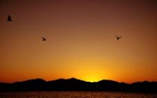 大海夕阳图片