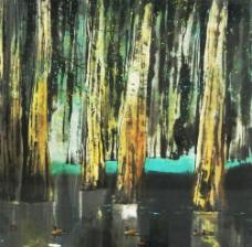 国画《树林》图片