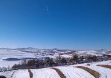 乡村雪景图片