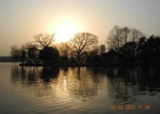 南湖晨光图片