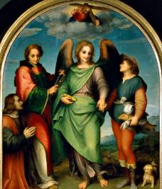 拉斐尔 天使 油画图片