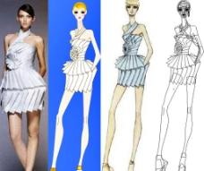时装短裙图片