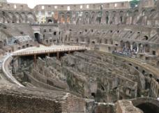 罗马斗兽场内部平拍图片