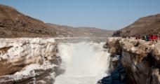 冬日壶口瀑布图片