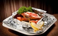 鹽燒蟹图片