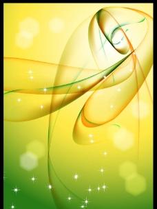 绿色展板 动感线条图片