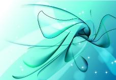 蓝色科技 动感曲线图片