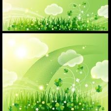 绿色背景 春天背景图片