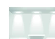灯光下的展台图片