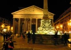 夜色中的万神殿图片