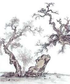水彩国画图片