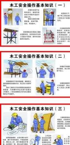 木工施工安全图图片