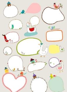卡通白鹅背景图片