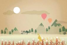 高山人气球图片