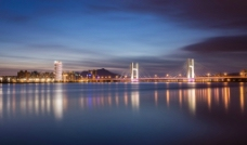 夜景桥梁图片