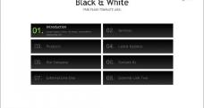 黑色导航按钮堆砌动画图片