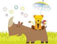 犀牛豹子图片