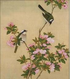 唯美工笔花鸟图片