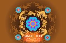 中国风时尚纹饰模版图片