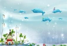 梦幻卡通海底图片