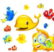 各种卡通鱼图片