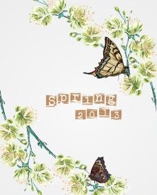 春天鲜花蝴蝶图片