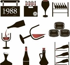 葡萄酒矢量图片