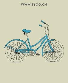 自行车 自行车矢量图片
