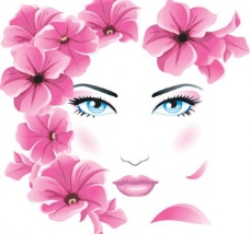 春天鲜花美女头像图片