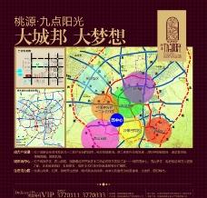 房产地段图图片