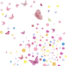 花和蝴蝶矢量图片