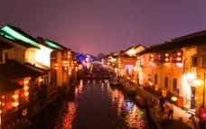 山塘夜景图片