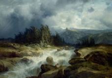 風景油畫圖片