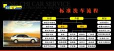 标准洗车流程图片