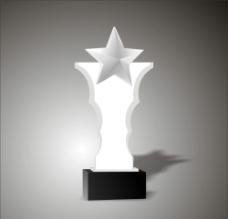 五星水晶奖杯图片