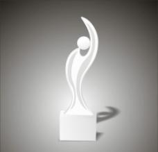 人形水晶奖杯图片