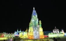 哈尔滨冰灯图片