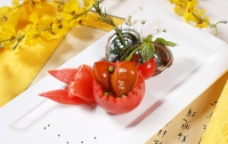 番茄焗珍珠鲍图片