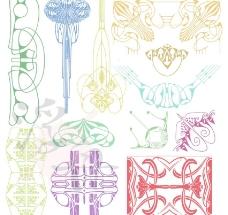 抽象歐式花紋圖案圖片
