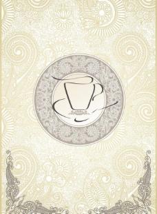 咖啡菜单菜谱底纹图片