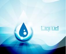 矢量抽象蓝色水滴背景素材