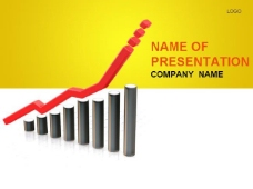 财务报表数据增长PPT模板