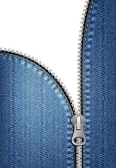 拉链牛仔布背景图片
