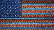 美国国旗牛仔布背景图片