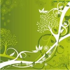 精美绿色底纹背景